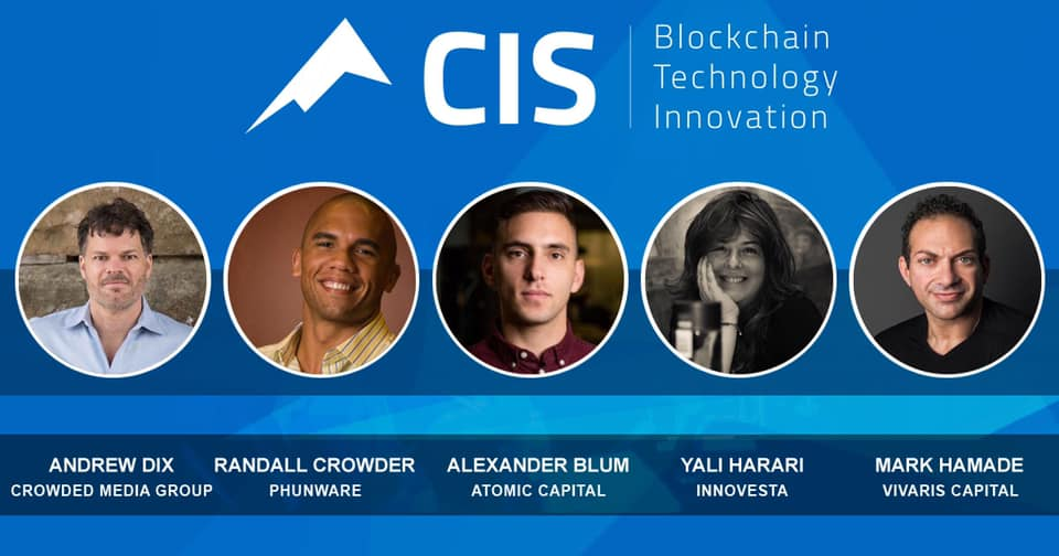 We are honored to be part of the leading blockchain and innovation conference CIS!